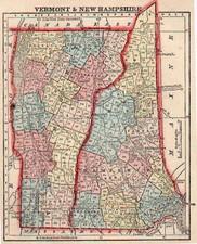 New England Map By Sidney Morse  &  Samuel Gaston