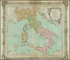 Italy Map By Louis Brion de la Tour