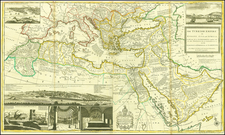 Greece, Turkey, Mediterranean, Middle East, Holy Land, Turkey & Asia Minor, Egypt and North Africa Map By Herman Moll