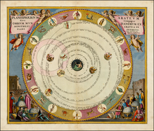 World and Celestial Maps Map By Andreas Cellarius