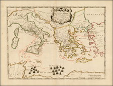 Europe, Italy, Greece, Mediterranean and Balearic Islands Map By Pierre Mariette