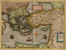 Balkans, Greece, Turkey, Balearic Islands, Holy Land and Turkey & Asia Minor Map By Cornelis de Jode
