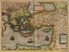 Balkans, Turkey, Holy Land, Turkey & Asia Minor, Balearic Islands and Greece Map By Cornelis de Jode