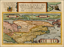 Polar Maps, United States and North America Map By Cornelis de Jode