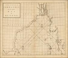 India and Southeast Asia Map By John Senex / Edmund Halley / Nathaniel Cutler