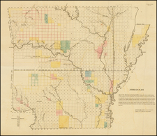 Arkansas Map By General Land Office