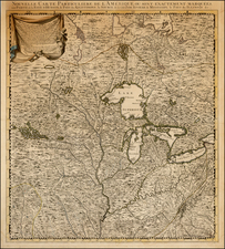 Midwest, Plains and Canada Map By Johannes Covens  &  Cornelis Mortier