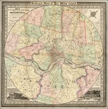 Mid-Atlantic, Pennsylvania and Philadelphia Map By James Charles Sidney / Robert Piersall Smith