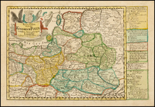 Poland Map By Johann George Schreiber