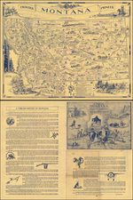 Plains, Rocky Mountains, Montana and Pictorial Maps Map By Irvin Shope