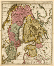 Baltic Countries, Scandinavia, Sweden and Finland Map By Gerard & Leonard Valk