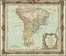 South America Map By Louis Brion de la Tour
