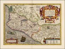 Mexico Map By Jodocus Hondius / Gerhard Mercator