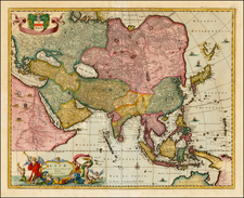 Asia and Asia Map By Nicolaes Visscher I