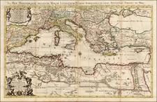 Mediterranean Map By Alexis-Hubert Jaillot