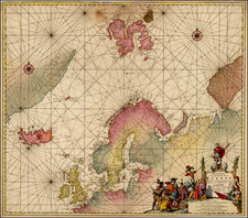 Atlantic Ocean, British Isles, Scandinavia and Iceland Map By Jacobus Robijn