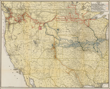 Texas, Plains, Southwest, Rocky Mountains and California Map By McGill-Warner Co.