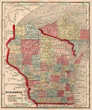 Midwest Map By Sidney Morse  &  Samuel Gaston