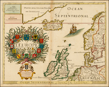 Europe, Europe, British Isles, Scandinavia and Iceland Map By Pierre Du Val