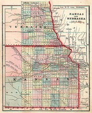 Midwest and Plains Map By Sidney Morse / Samuel Gaston