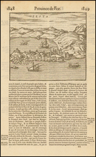 Spain and North Africa Map By Francois De Belleforest