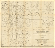 Southwest and California Map By U.S. Army Corps of Topographical Engineer