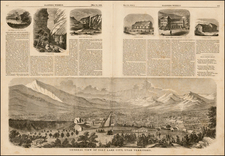 Southwest, Rocky Mountains and Utah Map By Harper's Weekly