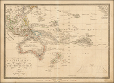 Southeast Asia, Australia & Oceania, Pacific, Australia and Oceania Map By Artaria & Co.