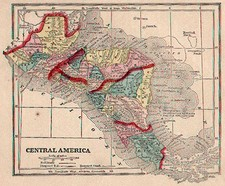 Central America Map By Sidney Morse  &  Samuel Gaston