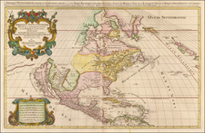 North America and California as an Island Map By Alexis-Hubert Jaillot / Pieter Mortier