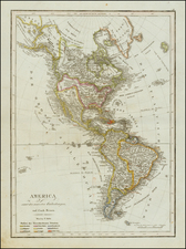 South America and America Map By Tranquillo Mollo