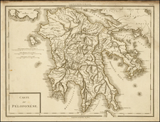 Greece Map By Pierre Antoine Tardieu