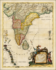 India and Other Islands Map By Giacomo Giovanni Rossi - Giacomo Cantelli da Vignola
