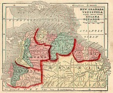 South America Map By Sidney Morse  &  Samuel Gaston