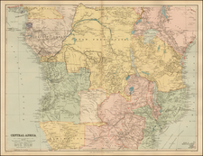 Africa, Africa, East Africa and West Africa Map By Edward Stanford