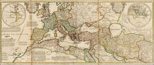 Europe, Europe, Italy, Mediterranean, Central Asia & Caucasus and Turkey & Asia Minor Map By Herman Moll