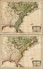 United States Map By Johan Jacob Moser