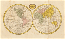 World and World Map By Charles Brightly  &  E. Kinnersly