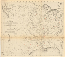 United States, South, Texas, Midwest, Plains, Southwest and Rocky Mountains Map By United States Bureau of Topographical Engineers