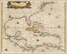 New England, Caribbean and South America Map By Johannes van Loon