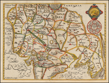 India and Central Asia & Caucasus Map By Samuel Purchas / William Baffin