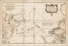 Polar Maps, Alaska, Russia in Asia, California and Canada Map By Jacques Nicolas Bellin