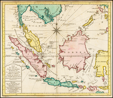 Southeast Asia Map By J.V. Schley