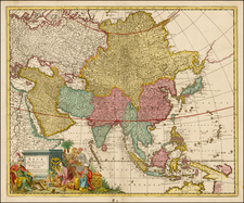 Asia, Asia and Australia Map By Gerard & Leonard Valk