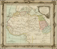 North Africa, East Africa and West Africa Map By Louis Brion de la Tour