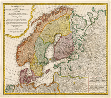 Scandinavia Map By Homann Heirs
