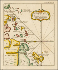 China and Southeast Asia Map By Jacques Nicolas Bellin