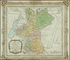 Russia and Ukraine Map By Louis Brion de la Tour