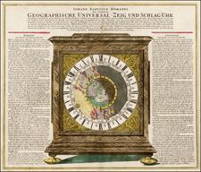 Northern Hemisphere, Polar Maps, Curiosities and Celestial Maps Map By Johann Baptist Homann