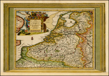 Netherlands Map By Pieter van der Aa